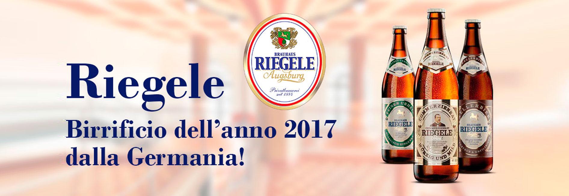 Premi e riconoscimenti per Riegele, già miglior birrificio 2017