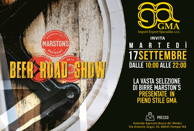 Beer Road Show: Gma presenta Martson's Brewery a Pompei